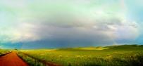 乌兰布统的天虹