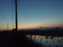 白云、夕阳、晚霞